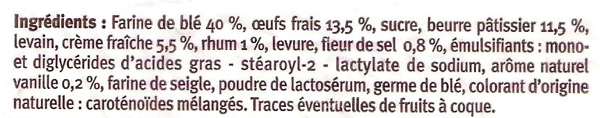 Brioche tressée pur beurre - Ingredients