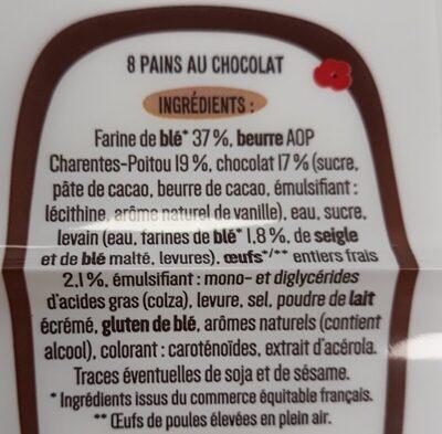 8 Pains au Chocolat pur beurre - Ingrediënten