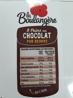 8 Pains au Chocolat pur beurre - Nutrition facts