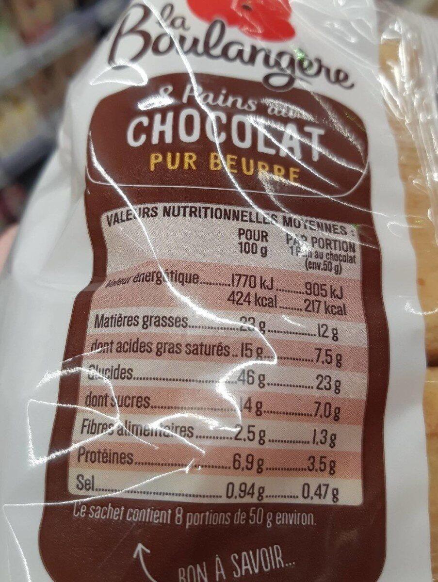 Pain au chocolat - Voedingswaarden - fr