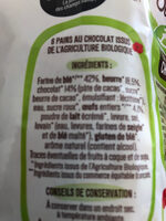 6 Pains au chocolat pur beurre Bio - Ingrediënten - fr