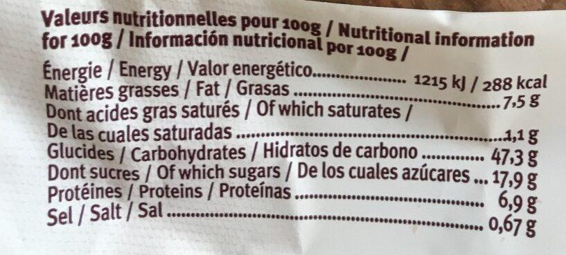 Pain au raisin - Voedingswaarden - fr