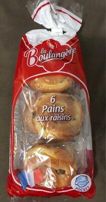 Pain Aux Raisins Boulang.x6 - Product - fr