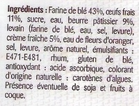 Brioche tranchée pur beurre - Ingredientes