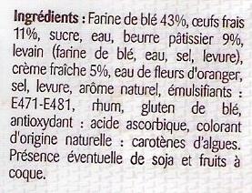 Brioche tranchée pur beurre - Ingredienti - fr
