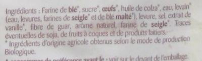 Brioche tranchée Bio - Ingrédients - fr