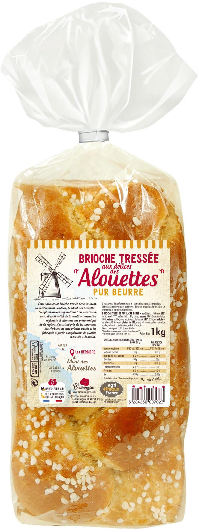 La Boulangère Brioche tressée aux délices des Alouettes - Prodotto - fr