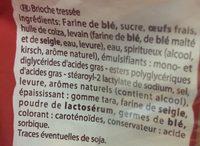 Brioche tressée - Ingrédients