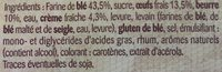 Gâche Tranchée Pur Beurre - Ingrediënten