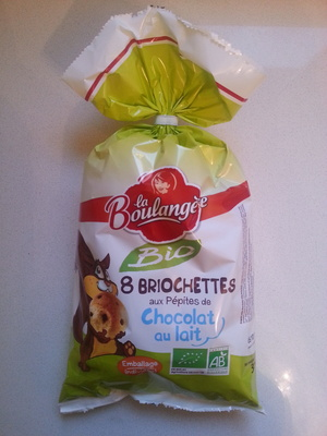 8 Briochettes aux Pépites de Chocolat au Lait Bio - Prodotto - fr
