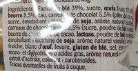 8 Briochettes aux petits carrés de Chocolat - Ingredienti - fr