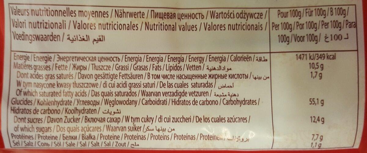 Pain Au Lait Nature 10 La Boulangère - Valori nutrizionali - fr