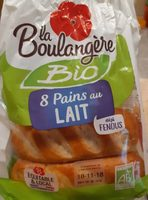 8 Pains au lait Bio déjà fendus - Product - fr