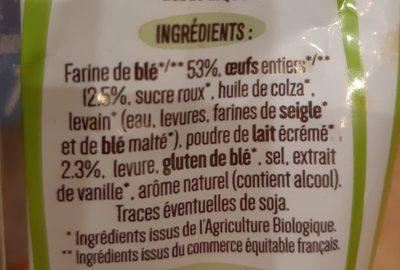 8 Pains au lait Bio déjà fendus - Ingredients - fr