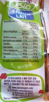 8 Pains au lait Bio déjà fendus - Nutrition facts - fr