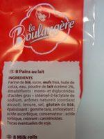 Pain au Lait La Boulangere - Ingrédients - fr