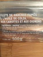 Filets de harengs fumés à l'huile - Ingrédients - fr