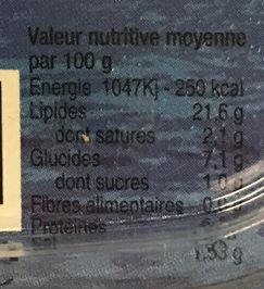 Composition gourmande de Surimi et crabe - Informations nutritionnelles - fr