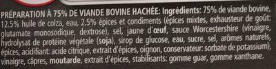 Haché Américain - Ingrediënten - fr