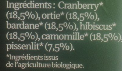 Tisane Cranberries - Ingrédients