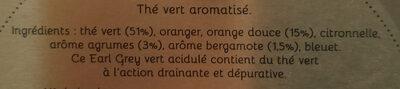 Thé vert LADY GREY - Ingrediënten - fr