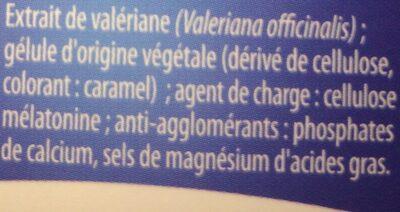 Mélatonine Valériane - Ingrediënten - fr