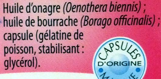 Onagre Bourrache éclat de la peau - Ingrediënten - fr