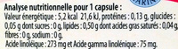 Onagre Bourrache éclat de la peau - Voedingswaarden - fr