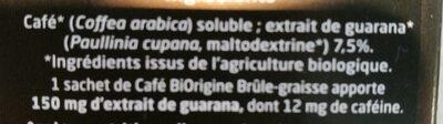 Café Brûle Graisse - Ingredients - fr