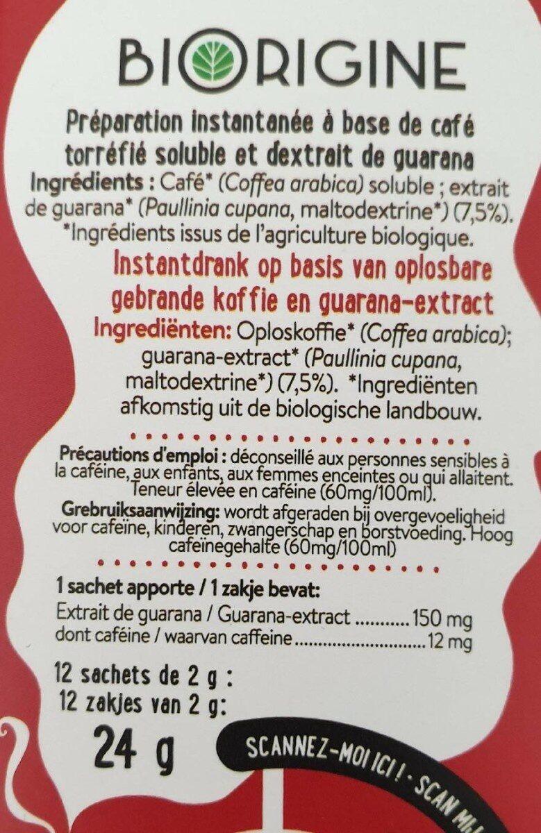 Café Brûle Graisse - Nutrition facts - fr