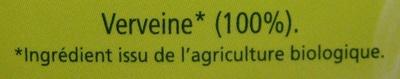 Verveine BiOrigine - Ingrediënten