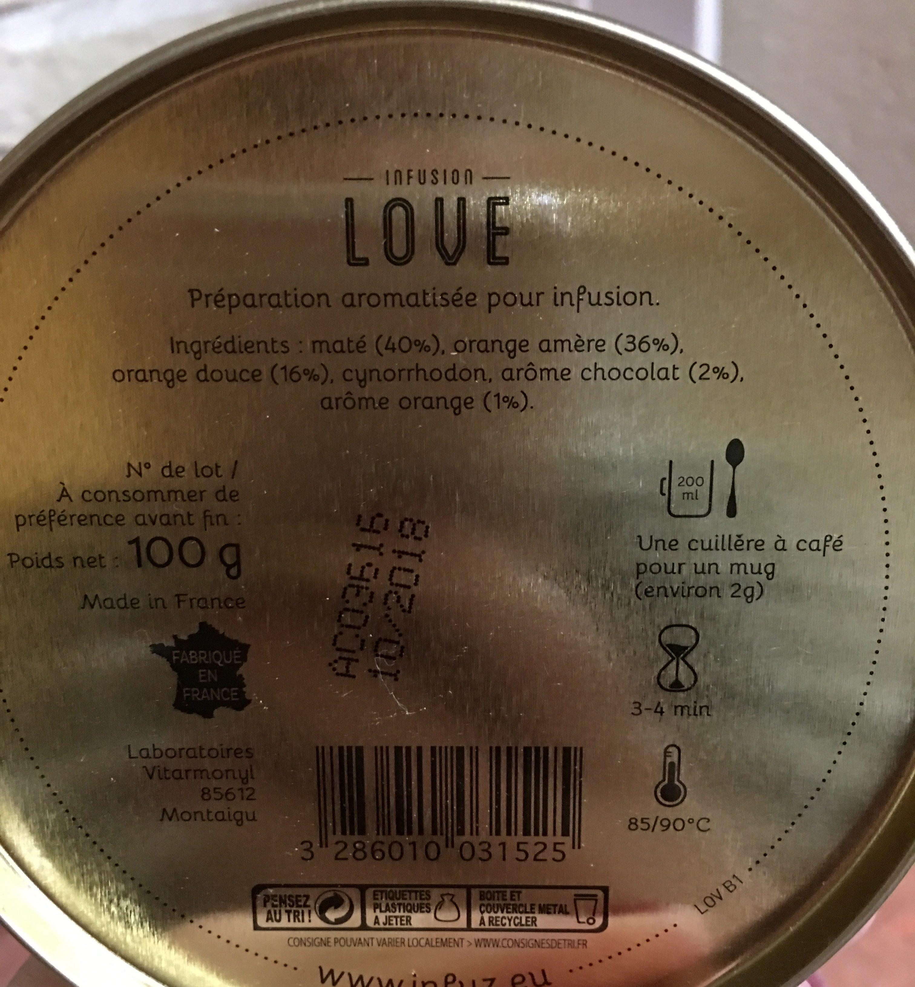 Infusion Love - Ingrediënten