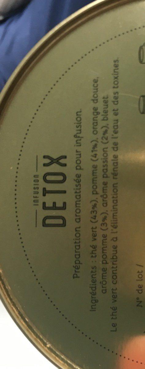 Infusion detox - Ingredients