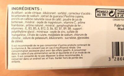 Multivitamines BOOST - Ingrédients