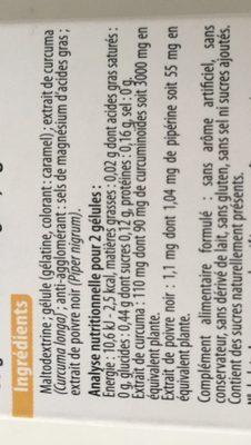 Curcuma Piperine - Ingrediënten - fr