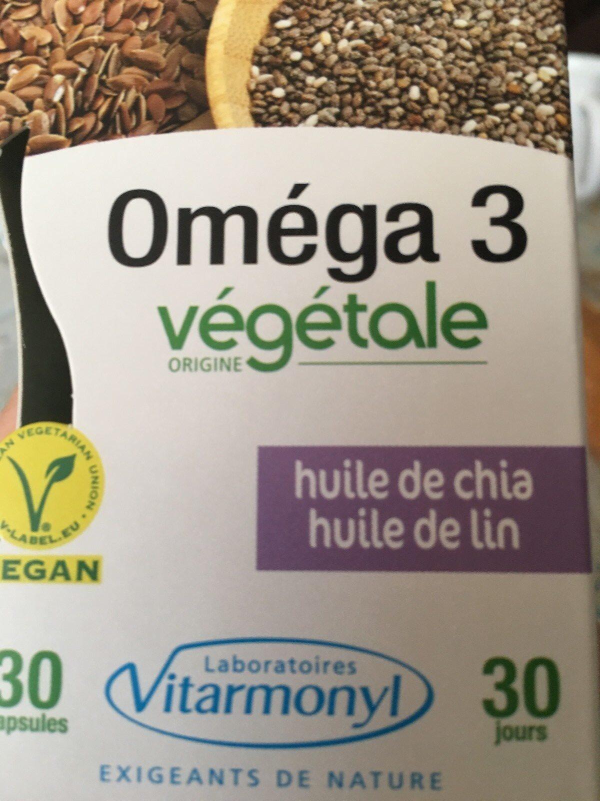 Oméga 3 huile de chia, huile de lin - Ingrediënten - fr