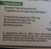 Spiruline végétale - Ingrediënten - fr