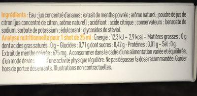Slim shot - Ingrediënten - fr