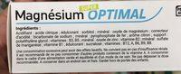 Magnésium super optimal - Ingrediënten - fr