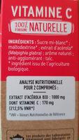 Vitamine C - Ingrediënten - fr