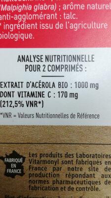 Vitamine C - Voedingswaarden - fr