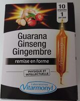 Guarana ginseng gingembre - Product - en