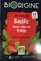 Infusion bio Basilic saveur naturelle de fraise - Product