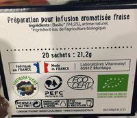 Infusion bio Basilic saveur naturelle de fraise - Ingredients