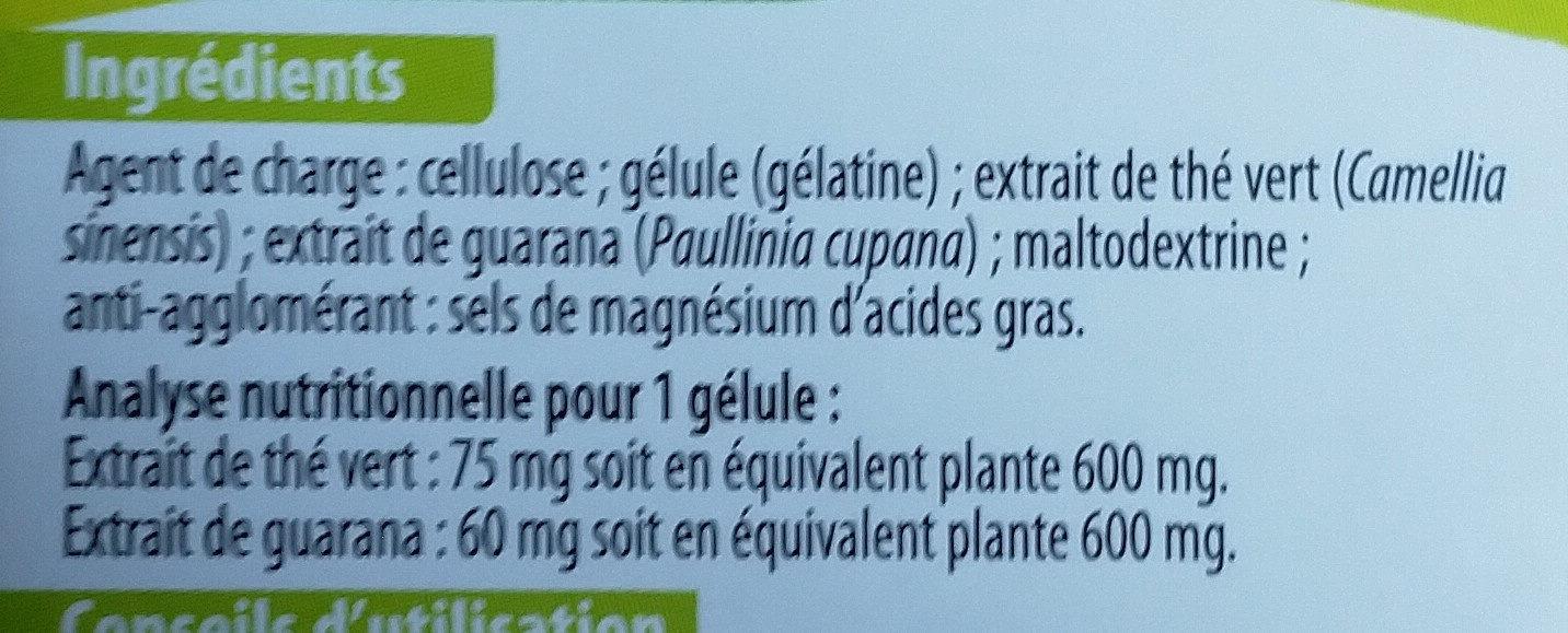 Thé vert guarana - Ingrediënten - fr