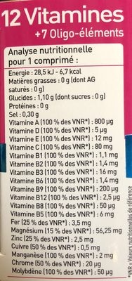 12 Vitamines + 7 Oligo-éléments - Ingrediënten - fr