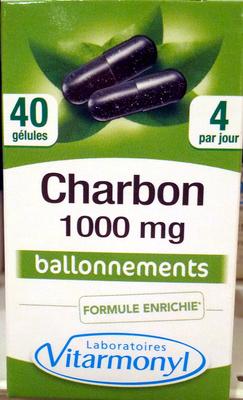 Charbon 1000 mg ballonnements - Product - fr