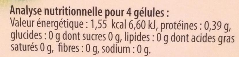 Charbon 1000 mg ballonnements - Voedingswaarden - fr