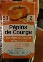 Vitarmonyl Pepins Courge 50 Gelules - Product - fr
