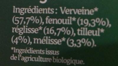 Sommeil BiOrigine - Ingrédients